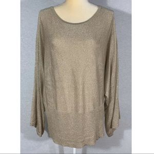 Lane Bryant Shirt Women's Size 18/20 Gold Sparkly